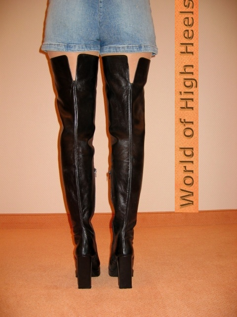high heels m nner berknie overknee stiefel leder 43 ebay. Black Bedroom Furniture Sets. Home Design Ideas